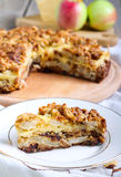 Apple and cheese tart Royalty Free Stock Photography