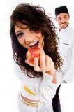 apple chef girl sexy Στοκ Εικόνα