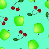 Apple and cherry Royalty Free Stock Photos