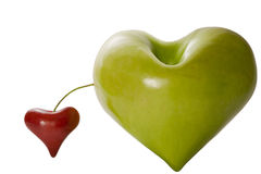 Apple and cherry lovely fantasy Royalty Free Stock Photography