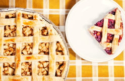 Apple & cherry pies. Apple & cherry pies (shallow dof Royalty Free Stock Photos