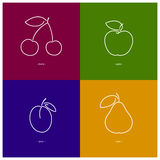 Apple,Cherry,Plum,Pear Stock Photo