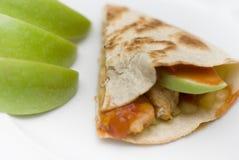 Apple Chicken Quesadilla Stock Photos