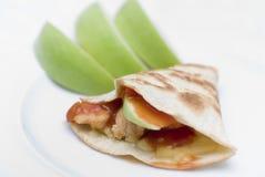 Apple Chicken Quesadilla Royalty Free Stock Photo