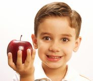 Apple child. Royalty Free Stock Photography