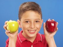 Apple child. Royalty Free Stock Photos