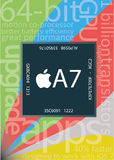 New Apple A7 chip on Ipad Air and Iphone stock illustration