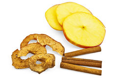 Apple with chips and cinnamon Royalty Free Stock Photography