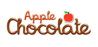 Apple chocolate logo design. I did in 3d software with my creative thinking royalty free illustration