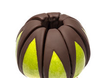 Apple in chocolate Stock Photography