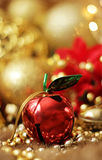 Apple Christmas bell Royalty Free Stock Photo