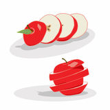 Apple cięcie royalty ilustracja