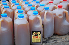 Apple Cider. Fresh apple cider for sale at the farm market royalty free stock photo