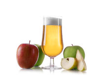 Apple cider ale. Isolated on white royalty free stock image