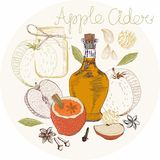 Apple Cider background Stock Photos