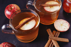 Apple cider with cinnamon Royalty Free Stock Photos