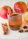 Apple cider with cinnamon Royalty Free Stock Photography