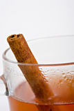 Apple cider with cinnamon stick Royalty Free Stock Image