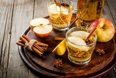 Apple cider cocktail stock photography