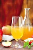 Apple-cider in glas Royalty-vrije Stock Afbeeldingen