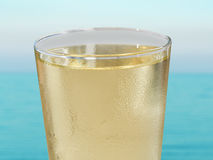 Apple cider in a glass glass Royalty Free Stock Image