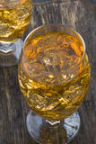 Apple cider with ice cubes Stock Photography