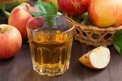 Apple cider or juice in a glass Royalty Free Stock Photography