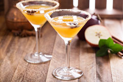 Apple cider martini with star anise Royalty Free Stock Images