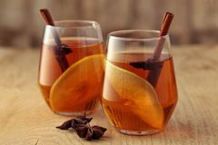 Apple-cider met kruiden Stock Fotografie