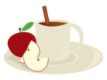 Apple cider in mug stock illustration