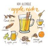 Apple cider recipe card design Stock Images