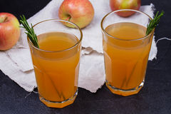 Apple cider with rosemary. And fruits Stock Photos