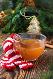 Apple cider rum punch. Hot drink for a fun and festive christmas holiday Stock Photos