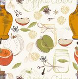 Apple Cider seamless background Royalty Free Stock Photos