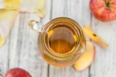 Apple Cider selective focus on vintage wooden background Royalty Free Stock Image