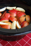Apple Cider Slow Cooker Stock Photo