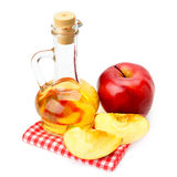 Apple cider vinegar and apples Royalty Free Stock Photography