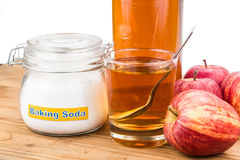 Apple cider vinegar and baking soda combination for acid reflux Stock Images