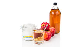 Apple cider vinegar and baking soda combination for acid reflux Stock Photo