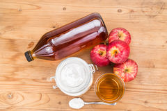 Apple cider vinegar and baking soda combination for acid reflux Royalty Free Stock Photo