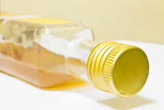 Apple Cider Vinegar, Beverage, Glass bottle Royalty Free Stock Images