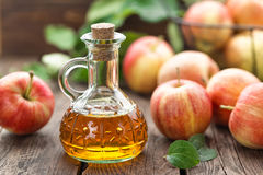 Apple cider vinegar. In a bottle Stock Image