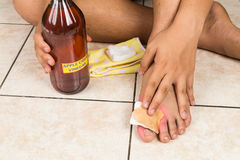 Apple cider vinegar effective natural remedy for skin itch, fung Stock Photo