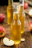 Apple Cider on wooden background selective focus Stock Photography