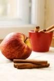 Apple and cinnamon Stock Image