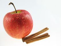 Apple  & Cinnamon Royalty Free Stock Photos