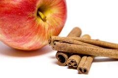 Apple and cinnamon Royalty Free Stock Photography