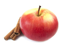 Apple and Cinnamon Royalty Free Stock Photo