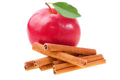 Apple with cinnamon. Apple Apple with cinnamon with cinnamon royalty free stock photography