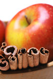 Apple with cinnamon Stock Image
